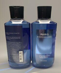 BATH & BODY WORKS PARIS MEN`S COLLECTION 2 IN 1 HAIR & BODY WASH GEL 10oz-2 Pack