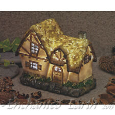 New Garden Glows Solar Fairy House -Crooked Cottage -Home of Ember Quillwitch.
