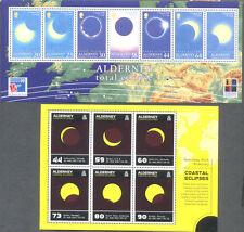 Alderney-Solar(1999) & Coastal Eclipse (2017)min sheets mnh