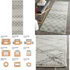 Adirondack Silver/Charcoal 3 Ft. X 12 Ft. Geometric Distressed Runner Rug