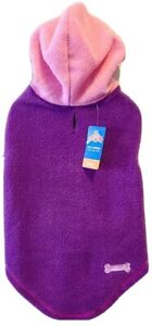 Cozy Pink&Purple Medium Girl Dog Hoodie