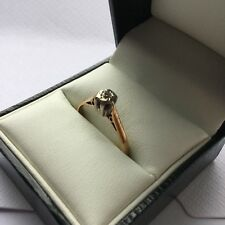BEAUTIFUL 18 carat GOLD RING with 0.05 carat DIAMOND UK size O 1/2 !!!BARGAIN!!!