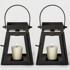 "2pk SMITH & HAWKEN Decorative Candle Holder Lanterns | Black | 5""x4.3"" 
