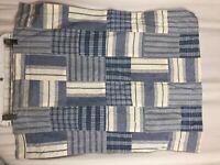 RALPH LAUREN Patchwork Plaid Blue Madras Standard Pillow Sham Chambray Cotton