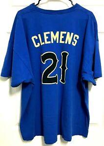 ROGER CLEMENS 21 Sugar Land Skeeters Men Blue Short Sleeve T-Shirt 3XL Gildan