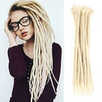 "5pcs 20"" Afro Dreadlocks Synthetic Crochet Braiding Dreads Locs Hair Extensions"