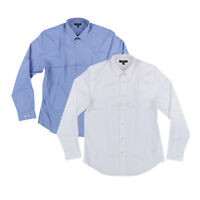 Express Mens Button Down Modern Fit Long Sleeve Dress Shirt Large White New Nwt