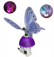 Novelty  Fiber Optic Butterfly LED Color Changing Night Light Lamp Decor Gift