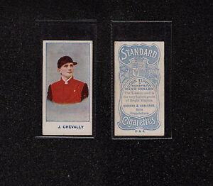 "s3484) 1908 SNIDERS & ABRAHAMS AUSTRALIAN JOCKEYS CARD ""J. CHEVALLY"""