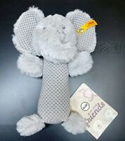 Steiff Elle Elephant 240768  Soft Cuddly Friends Rattle Grey NEW