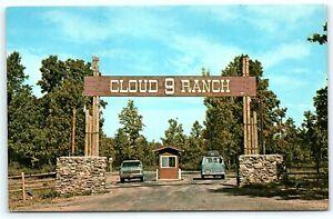 Postcard MO Caulfield Cloud 9 Ranch Ozark Mountains Entrance R29