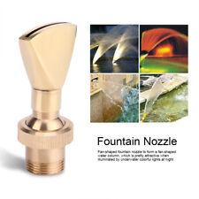 """1/2"""" DN15 3/4"""" DN20 Fan Shape Fountain Nozzle Spring Sprinkler Spray Head Pond"""