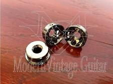 "3  MVG SIJSBN Vintage Guitar BLACK NICKEL Metal Electro Socket 1/4"" Jack Mount"