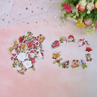 50PCs Random Mixed Wooden Button Christmas Decorative Buttons For Cloth Decor NT