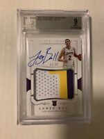 LONZO BALL 2017-18 NATIONAL TREASURES TRUE ROOKIE PATCH AUTO /99 BGS 9/10 RPA