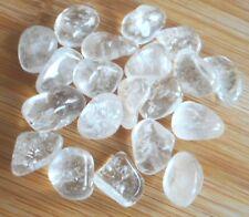 Rock Quartz Tumblestones 20 Rock Quartz Crystals 12mm-15mm Grids Crafts