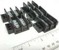 5 pack Bussmann / Eaton 2 terminal double row Thermoplastic electrical block