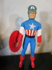 "MEGO CAPTAIN AMERICA 12-1/2 "" FIGURE WITH FLY AWAY ACTION VINTAGE 1979 RARE!"