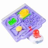 Tilt Maze Ball Game Set,4 in 1 Mazes w/ Tilting Joystick Brain Teaser