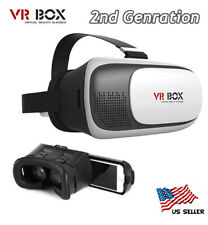 NEW for Google Cardboard 2nd Gen VR BOX Virtual Reality 3D Glasses US Shipping