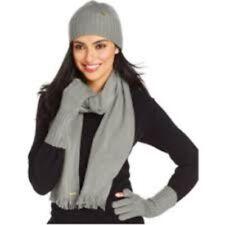 Calvin Klein Women's Winter 3 Piece Set Hat Scarf  and Touch Glove Msrp:$88.00