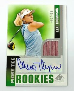 Lexi Thompson 2021 SP Game Used First Tee RPA Rookie Patch Auto /499 RC