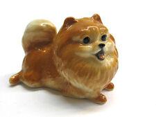 Cute Handicraft Miniatures Collectible Ceramic Pomeranian Pom Dog Breed FIGURINE