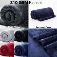 Faux Fur Fleece Mink Throw Super Soft Plush Large Warm Bed Sofa Travel Blanket