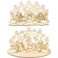 Wooden Christmas Three-dimensional Ornament Desktop Figure Party Decor Kids Toy