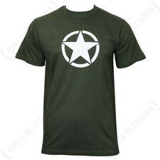 Camisetas de hombre de manga corta sin marca color principal verde