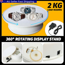 20cm Motorized Rotating Display Stand Jewelry Turntable Electric Loading White