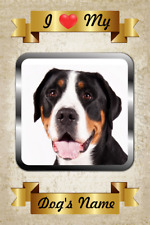 Greater Swiss Mountain Dog Personalized Magnet Name I Love My Flex Fridge