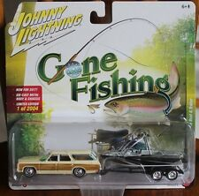 2017 JOHNNY LIGHTNING Gone Fishing Release 2A 1973 CHEVROLET CAPRICE with BOAT!!