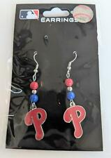 Philadelphia Phillies MLB Dangle Earrings, Baseball Jewelry