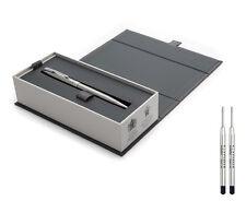 Parker Sonnet Bolígrafo-Acero Inoxidable Chrome Trim Con Recargas de Negro x2
