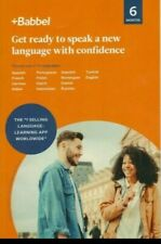 Babbel: Learn one of 14 Languages 6 Month Subscription Key-Code only (No cd)