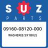 09160-08120-000 Suzuki Washer(8.5x18x2) 0916008120000, New Genuine OEM Part