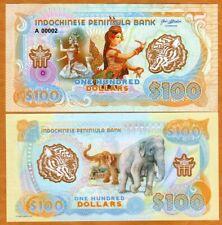 Indochinese Peninsula,  $100, 2021, Clear Window Polymer, UNC > Dancer, Elephant