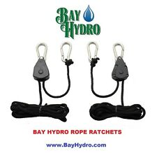 Bay Hydro Rope Ratchet 2 PAIR (4PC) Light Hangers YOYO Top Quality $$ SAVE $$