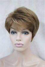 Femmes court droit blonde brune mélangée sain Cosplay perruque de cheveux