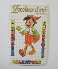 VECCHIO ADESIVO / Old Sticker PINOCCHIO (cm 7 x 11)