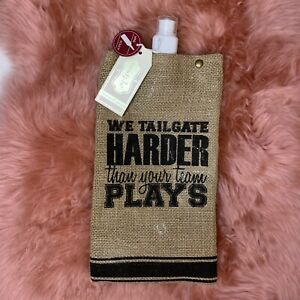 Mud Pie Wine Pouch Flask Tailgating Burlap Football Game day