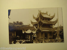 old China postcard,chinese temple,unused