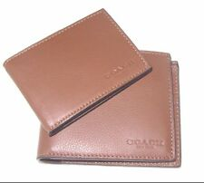 Coach F74991 Leather Dark Saddle Bifold Compact ID Sport Calf Wallet
