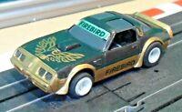 Vintage 1980's Tomy Aurora AFX 1:64 Pontiac Transam Firebird Blk Slot Car (runs)