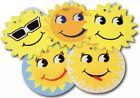 5x Car Air Freshener Hanging Smiley Sun Coveva BULK Pine Scented