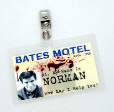 Psycho Horror ID Badge-Bates Motel Norman Bates Costume Cosplay Prop