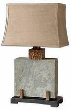 Boutique Indoor Outdoor Table Lamp Stone Metal Patio Garden Copper