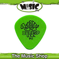 10 x Dunlop Tortex Jazz 472 M1 .88mm Medium Guitar Picks with Round Tip - Green