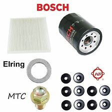 Tune Up Kit Cabin Air Oil Filters Plug Gasket O-Rings for Acura RL 2006-2012